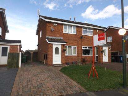 2 Bedrooms Semi Detached House for sale in Cottesmore Way, Golborne, Warrington, Cheshire
