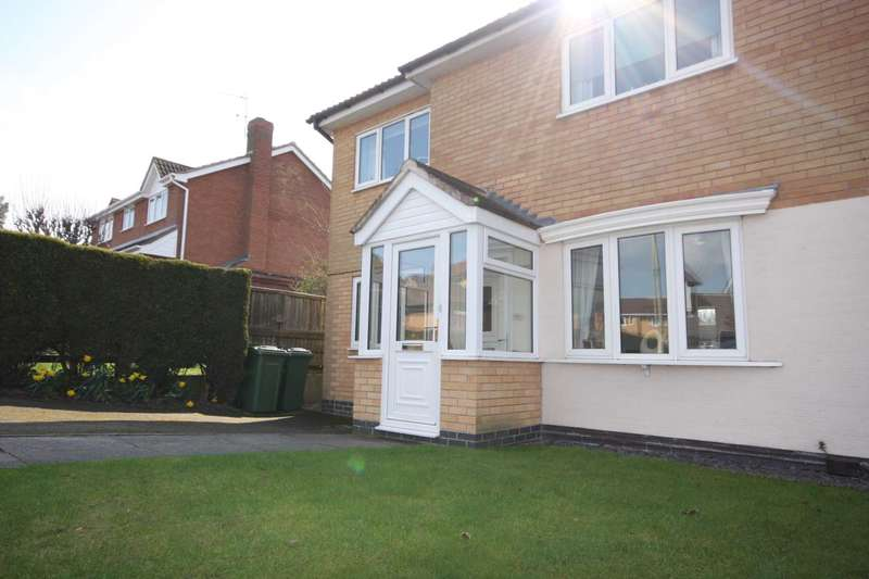 3 Bedrooms Semi Detached House for sale in Somerset Drive, Glenfield