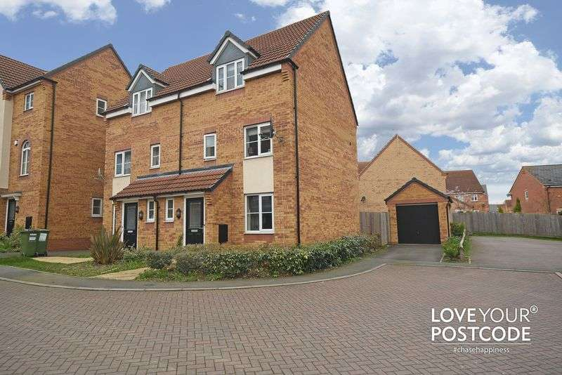 3 Bedrooms Semi Detached House for sale in Wellingar Close, Leicester, LE3 3SA