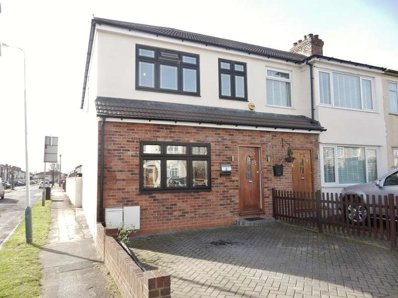 3 Bedrooms End Of Terrace House for sale in Chestnut Avenue, Hornchurch, Essex, RM12 4HN