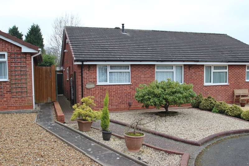 2 Bedrooms Semi Detached Bungalow for sale in Aylesmore Close, Bartley Green