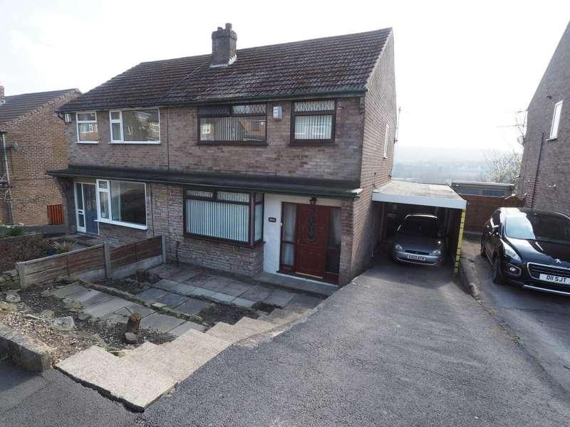 3 Bedrooms Semi Detached House for sale in Parkland Avenue, New Mills, High Peak, Derbyshire, SK22 4DT