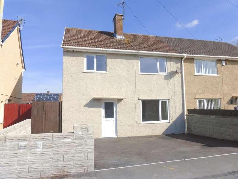 3 Bedrooms Semi Detached House for sale in Heol Onnen, North Cornelly, Bridgend
