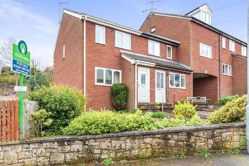 2 Bedrooms Semi Detached House for sale in Croft Road, Rothbury, Morpeth, NE65