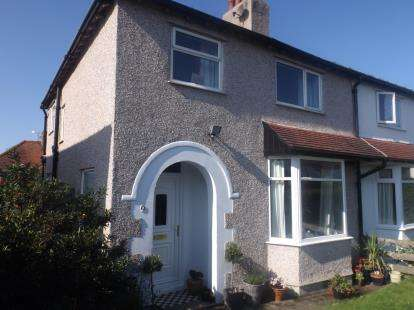 3 Bedrooms Semi Detached House for sale in Park Drive, Deganwy, Conwy, North Wales, LL31