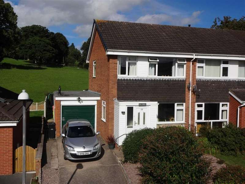 3 Bedrooms Semi Detached House for sale in 25, Beechwood Drive, Barnfields, Newtown, Powys, SY16