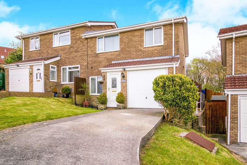 3 Bedrooms Semi Detached House for sale in Hunters Ridge, Brackla, Bridgend