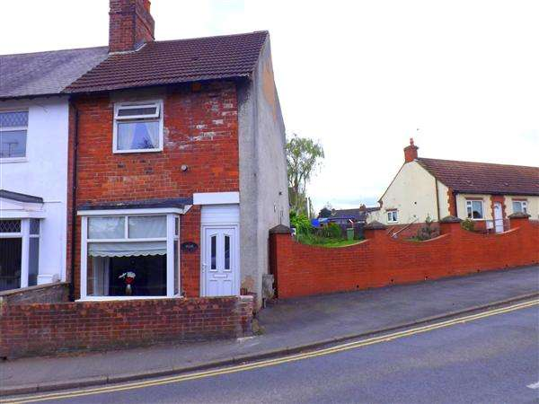 2 Bedrooms End Of Terrace House for sale in Skinner Street, Creswell, Worksop