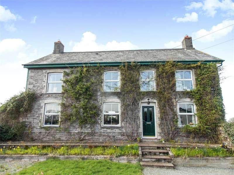 5 Bedrooms Detached House for sale in Liftondown, Lifton, Devon