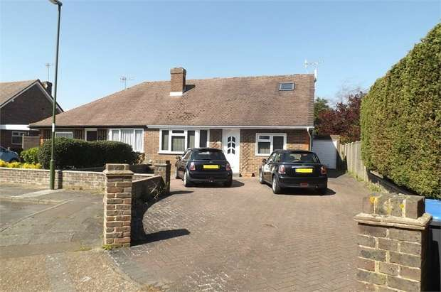 4 Bedrooms Semi Detached Bungalow for sale in Nursery Close, Lancing, West Sussex