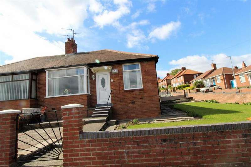 2 Bedrooms Semi Detached Bungalow for sale in Oakwood Gardens, Lobley Hill, Tyne And Wear