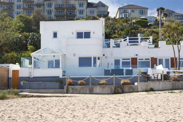 3 Bedrooms Semi Detached House for sale in Porthrepta Road, Carbis Bay, St. Ives, Cornwall