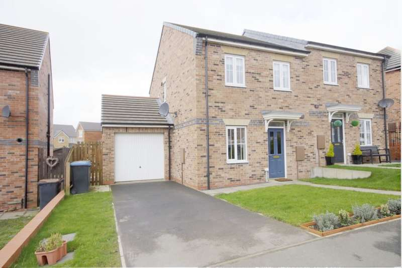 3 Bedrooms Semi Detached House for sale in Redmire Drive, Consett, DH8