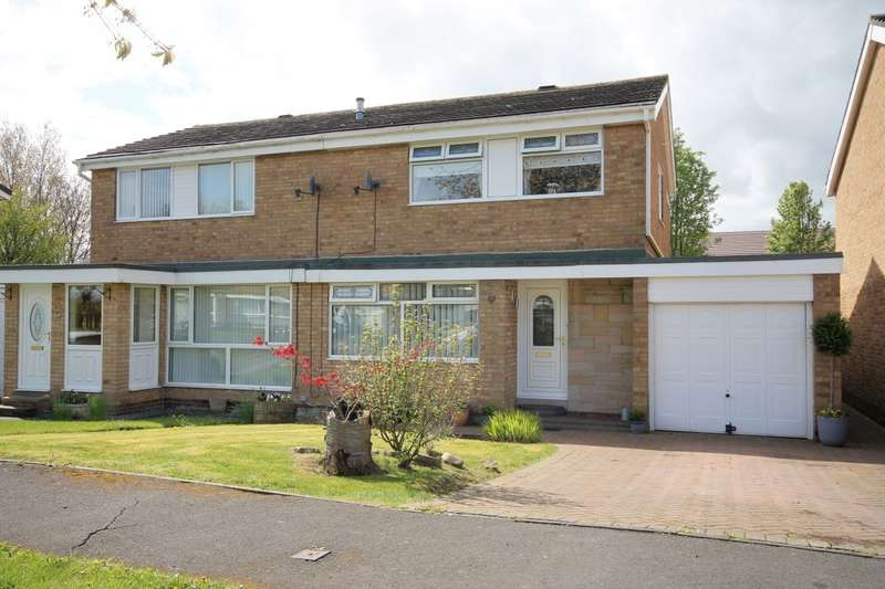 3 Bedrooms Semi Detached House for sale in Exeter Close, Great Lumley, Chester Le Street, DH3