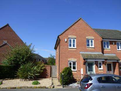 3 Bedrooms Semi Detached House for sale in Avon Way, Hilton, Derby, Derbyshire