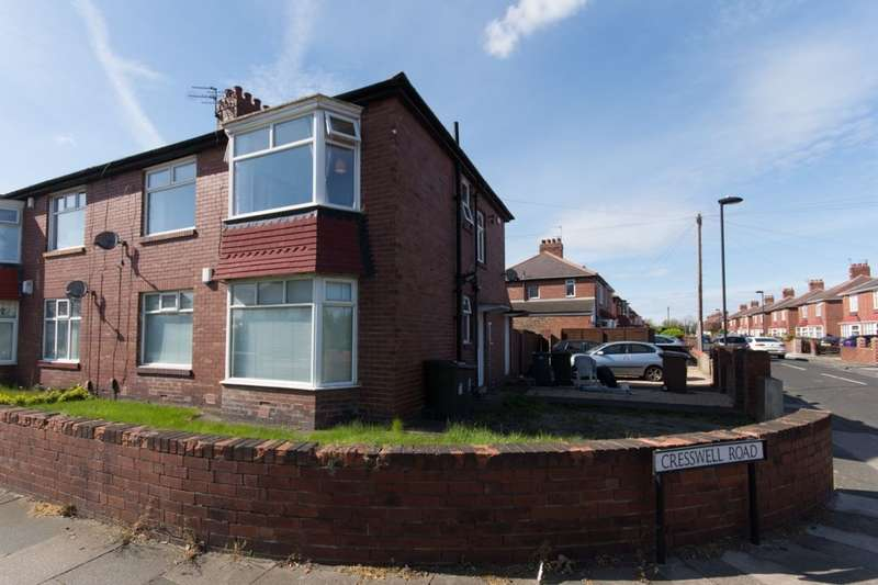 2 Bedrooms Flat for sale in Cresswell Road, Wallsend, NE28