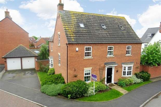 5 Bedrooms Detached House for sale in Millday Close, Kibworth Harcourt, Leicester