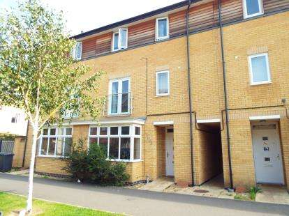 4 Bedrooms Town House for sale in Four Chimneys Crescent, Hampton Vale, Peterborough, Cambridgeshire