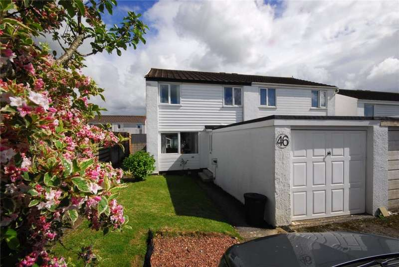 3 Bedrooms Semi Detached House for sale in Eglos Road, Shortlanesend, Truro