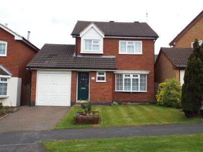 3 Bedrooms Detached House for sale in Somerset Drive, Glenfield, Leicester, Leicestershire