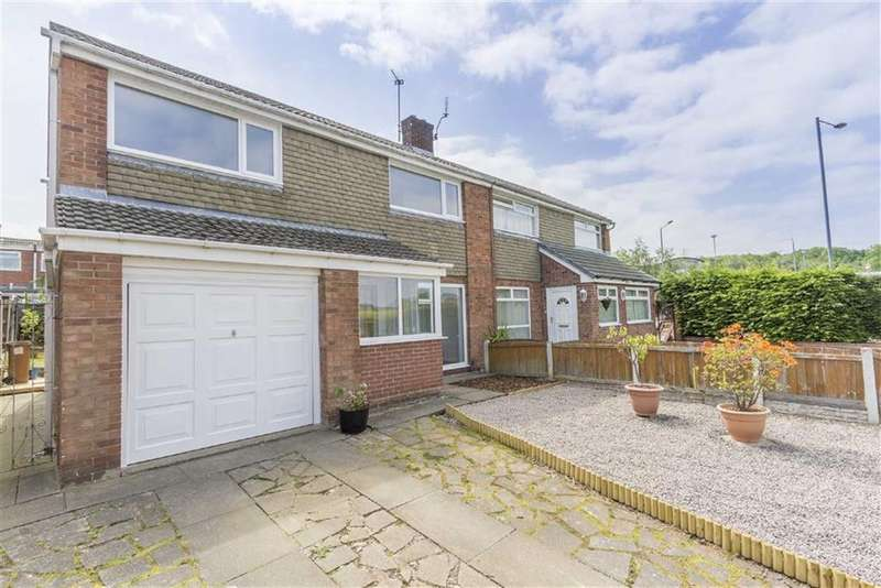 3 Bedrooms Semi Detached House for sale in Conway Court, Connah's Quay, Deeside, Flintshire