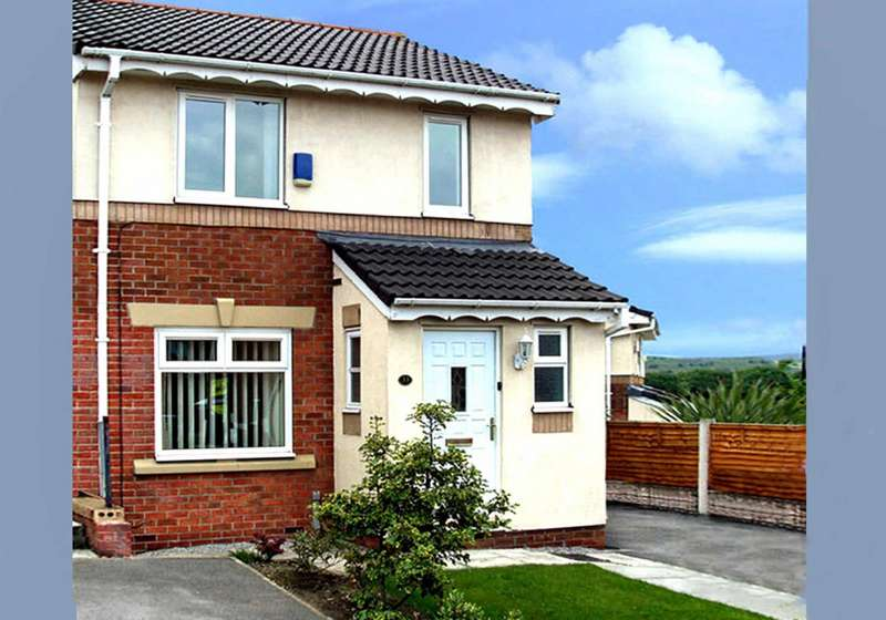 3 Bedrooms Semi Detached House for sale in Moorwood Drive, Cherry Tree Gardens, Oldham, OL8