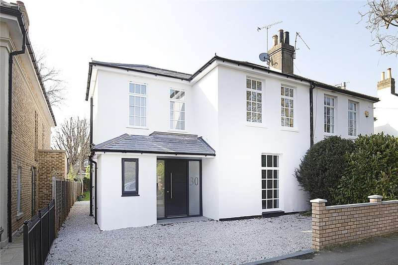 4 Bedrooms Semi Detached House for sale in Manor Road, East Molesey, Surrey, KT8