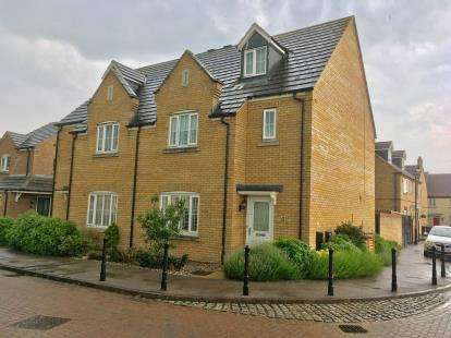 4 Bedrooms Semi Detached House for sale in Goldfinch Drive, Sandy, Bedfordshire