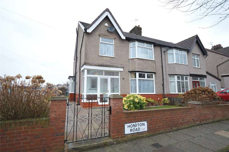 3 Bedrooms Semi Detached House for sale in Honiton Road, Aigburth, Liverpool, L17