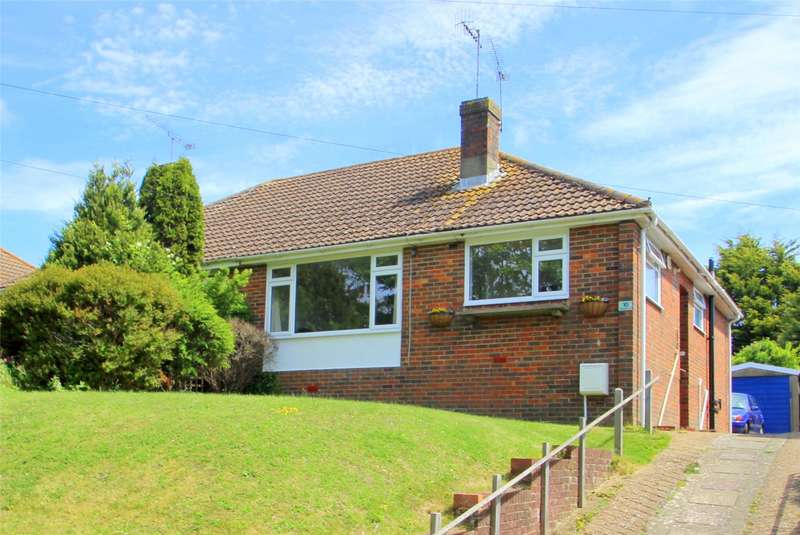 2 Bedrooms Semi Detached Bungalow for sale in Steepdown Road, Sompting, West Sussex, BN15
