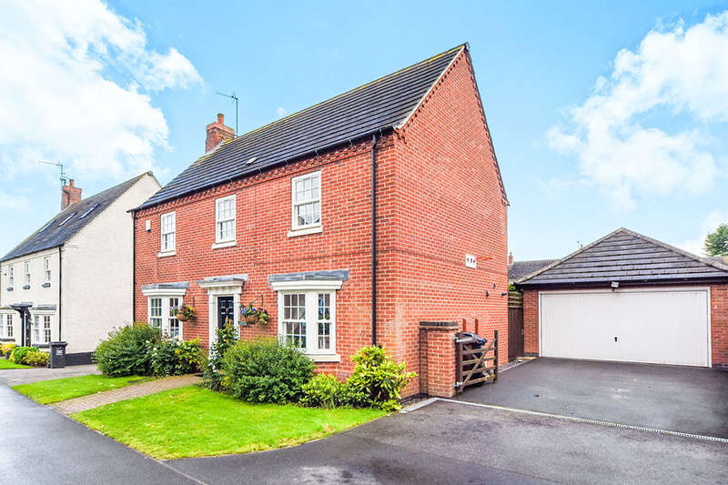 4 Bedrooms Detached House for sale in Ruskin Field, Anstey, Leicester, LE7