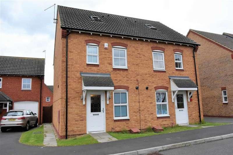 3 Bedrooms Semi Detached House for sale in Serve Close, Doddington Grange, Wellingborough, NN8 2QU