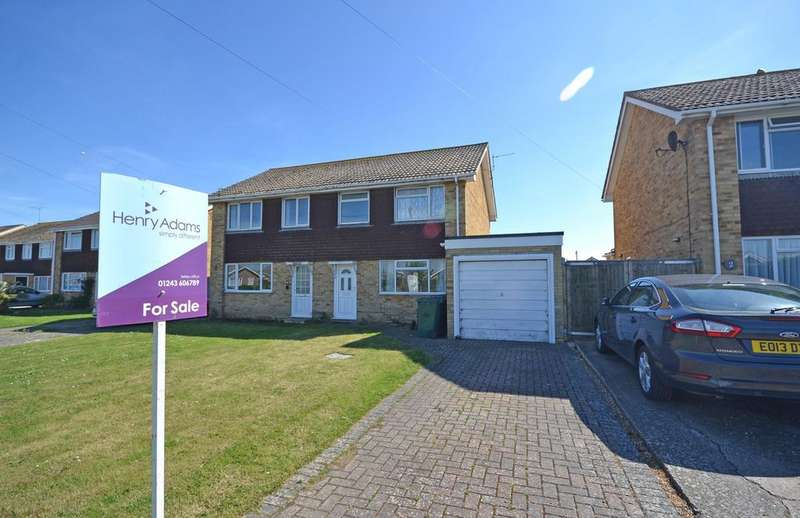 4 Bedrooms Semi Detached House for sale in Glen Crescent, Selsey, PO20