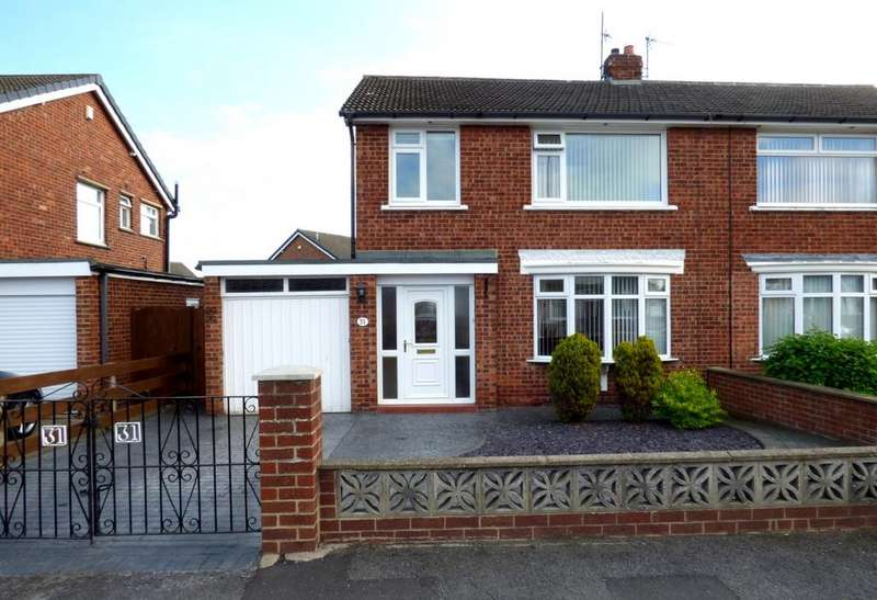 3 Bedrooms Semi Detached House for sale in Moulton Grove, Stockton-On-Tees, TS19