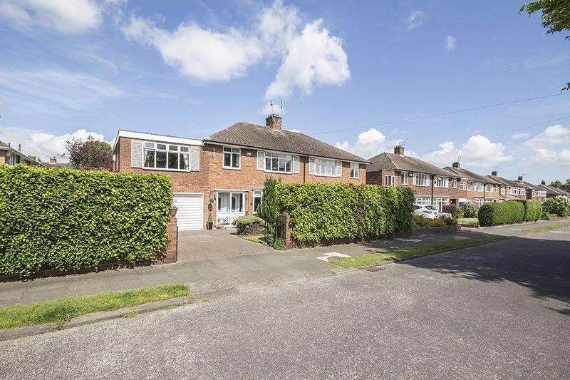 5 Bedrooms Semi Detached House for sale in Park Drive, Melton Park, Gosforth Newcastle Upon Tyne