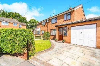 3 Bedrooms Semi Detached House for sale in Brook Drive, Great Sankey, Penketh, Warrington