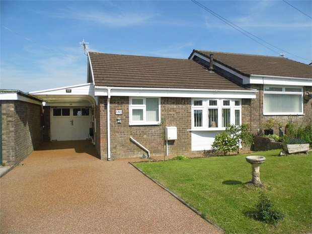 2 Bedrooms Semi Detached Bungalow for sale in Westward Place, Bridgend, Bridgend, Mid Glamorgan