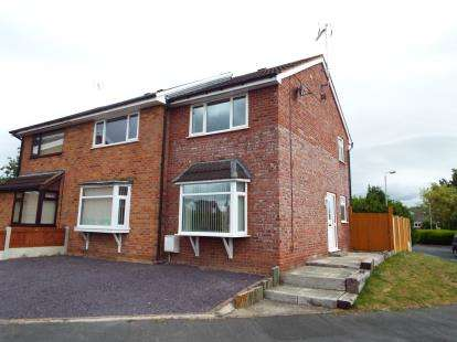 3 Bedrooms Semi Detached House for sale in Mayflower Drive, Marford, Wrexham, Wrecsam, LL12