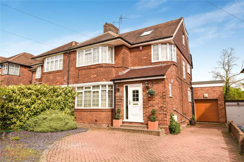 4 Bedrooms Semi Detached House for sale in Edgwarebury Lane, Edgware, London, HA8