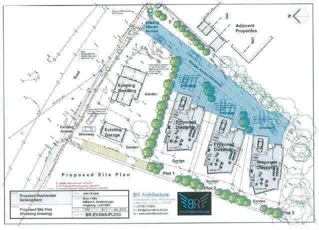 4 Bedrooms Land Commercial for sale in Development Plot & Land At Bryn Y Felin, Bryn Y Felin, Newborough