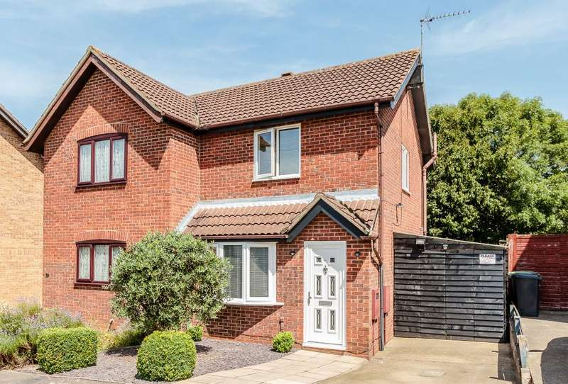 2 Bedrooms Semi Detached House for sale in Heron Close, Wellingborough, Northamptonshire NN8 4UN