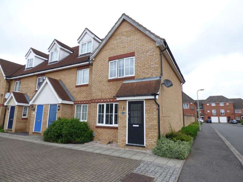 2 Bedrooms End Of Terrace House for sale in Dorsey Drive, Bedford, MK42 9FP