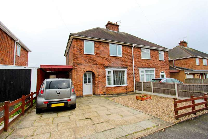 3 Bedrooms Semi Detached House for sale in Charnwood Road, Anstey, Leicester