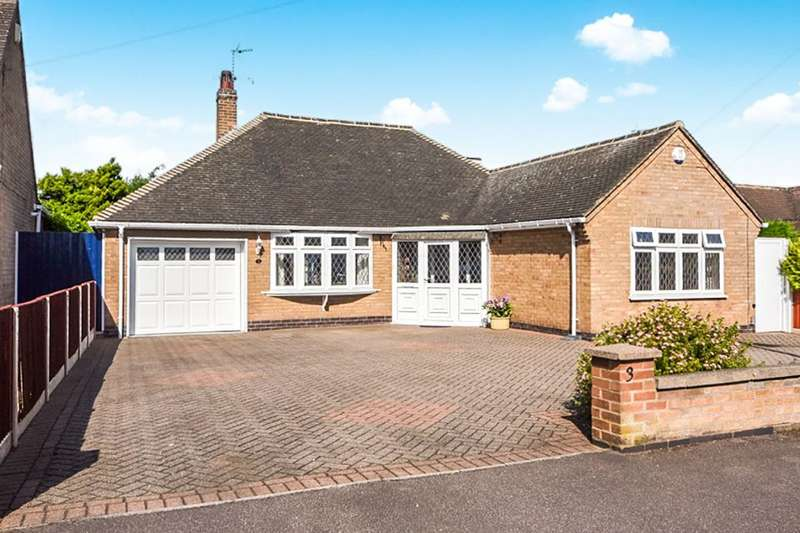 4 Bedrooms Detached Bungalow for sale in Cherry Tree Avenue, Kirby Muxloe, Leicester, LE9