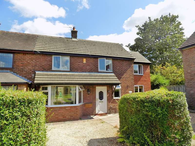 3 Bedrooms Semi Detached House for sale in Duke Avenue, Glazebury, Warrington, WA3