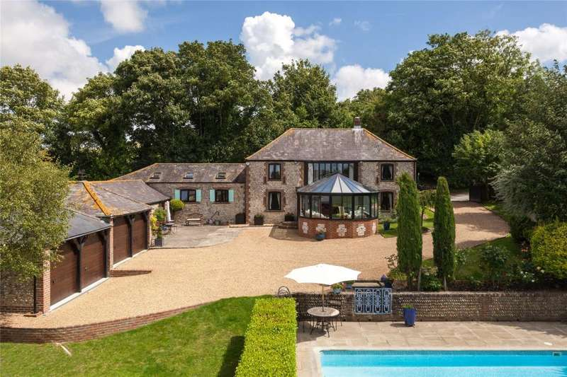 4 Bedrooms Barn Conversion Character Property for sale in Wepham, Arundel, West Sussex, BN18