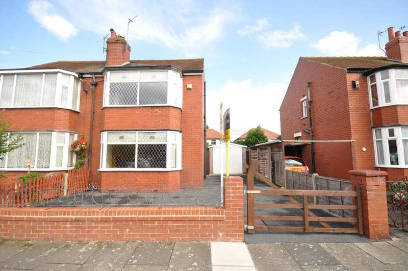2 Bedrooms Semi Detached House for sale in Collyhurst Avenue, South Shore, Blackpool, Lancashire, FY4 3NQ