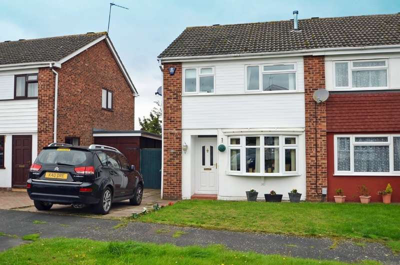 3 Bedrooms Semi Detached House for sale in Blake Close, Bilton, Rugby