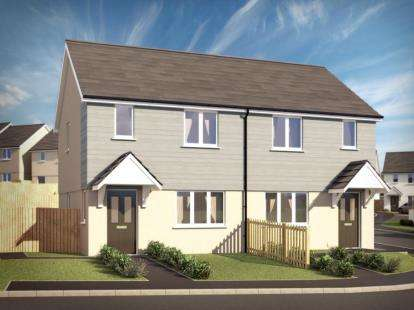 2 Bedrooms Semi Detached House for sale in Scredda, St. Austell