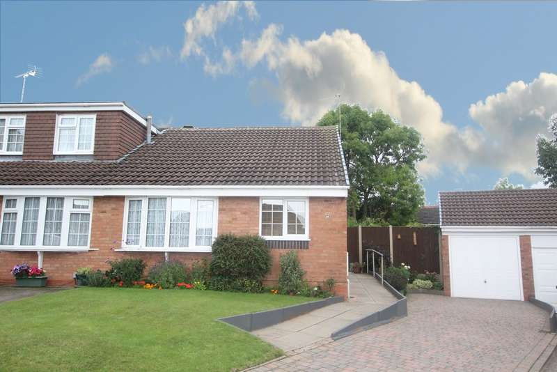 2 Bedrooms Semi Detached Bungalow for sale in Bassett Close, New Hall, Sutton Coldfield, B76 1DB